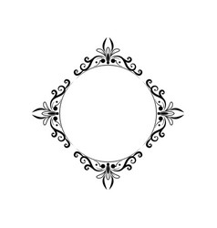 Black round classic vintage frame vector