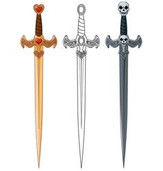 Three swords vector
