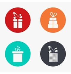 Modern gift colorful icons set vector