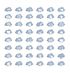 White cloud icons vector image