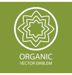 Abstract organic emblem vector
