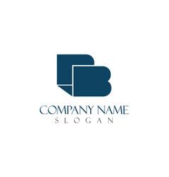 b elegant logo vector image vector image