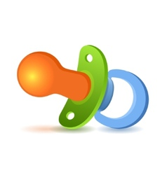Baby pacifier on white background vector image