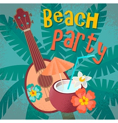 Beach ukulele vector