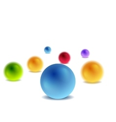 Bright 3d balls on white for infographic design vector image vector image