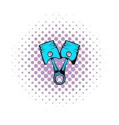 Car pistons comics icon vector