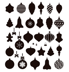 christmas ball shapes vector image