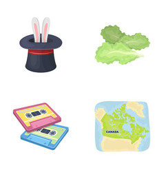 Circus art and other web icon in cartoon style vector