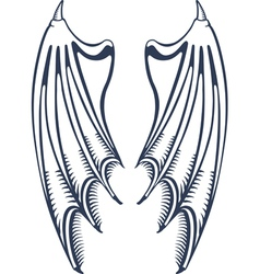devil wings vector image