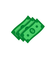 Dollar banknotes flat icon money cash symbol vector