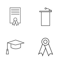 Education outline icons set linear icon vector