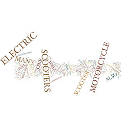 Electric scooters text background word cloud vector
