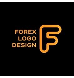 F letter forex trending quality business logo vector