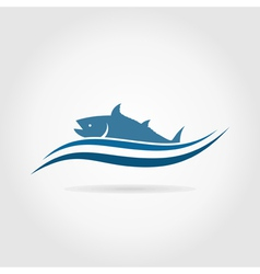 Fish an icon2 vector