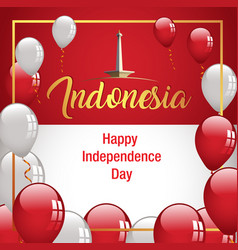 happy independence day indonesia banner vector image vector image