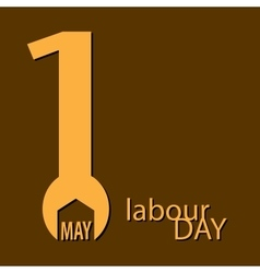 Labor day 1st may wrench logo poster vector
