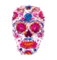 Mexican skull color t-shirt vector