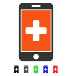 Mobile medicine flat icon vector