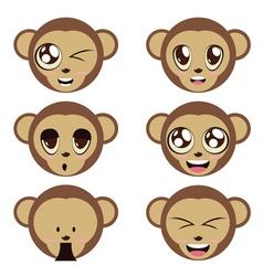 Monkey Heads vector image