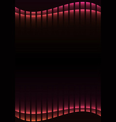 Pink abstract pixel curve background vector