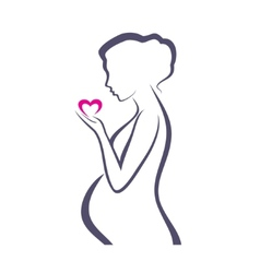 pregnant woman symbol stylized sketch vector image vector image