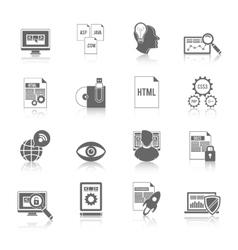 Programmer icon black vector