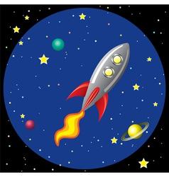 rocket ship in space vector image