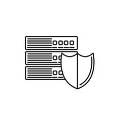 server security icon vector image