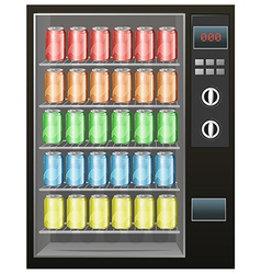 Soft drinks in the vendor machine vector