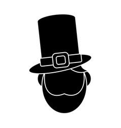 St patricks day face leprechaun pictogram vector