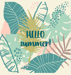 summer tropical design template vector image vector image