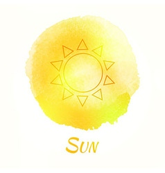 Sun watercolor concept vector