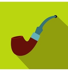 Tobacco pipe icon flat style vector