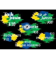 Typography elements design for brazilian label vector image