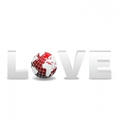world love design vector image vector image