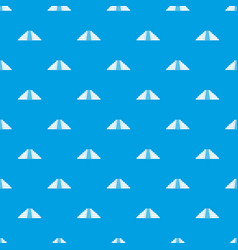 Ziggurat in chichen itza pattern seamless blue vector