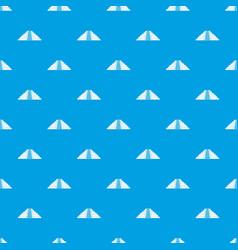 ziggurat in chichen itza pattern seamless blue vector image
