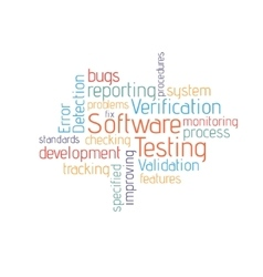 Software testing cloud vector