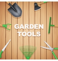 Background of season garden tools vector