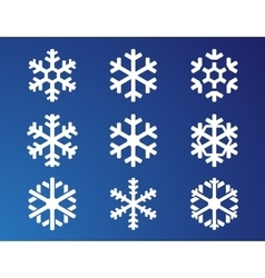 Snowflake on blue background vector