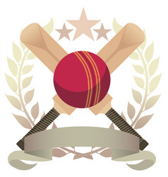 Cricket emblem vector