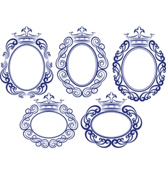 frames with crown vector image