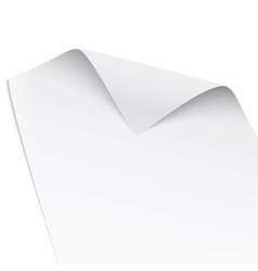 Paper with twisted corner vector