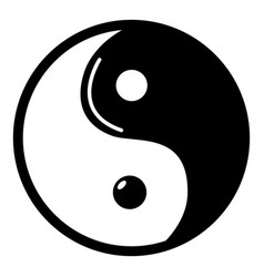 Yin yang symbol taoism icon  simple style vector