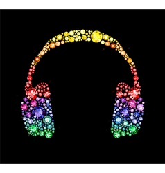 Gem headphones vector