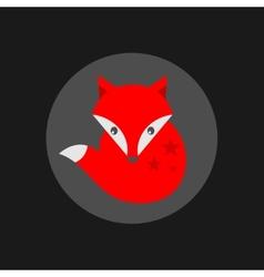 Cute little fox label vector