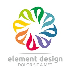 Abstract spin colorful element design symbol icon vector