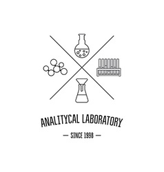 Logo for the chemical medical research vector