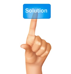 Finger pushing learn solution vector