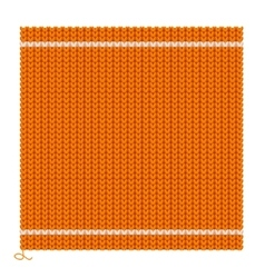 Knitted seamless orange background vector